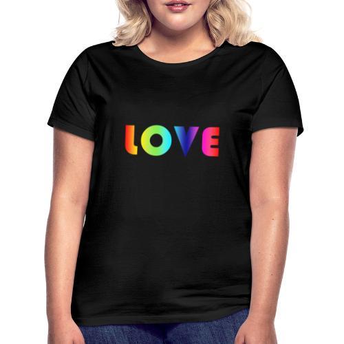 Rainbow Love - Vrouwen T-shirt