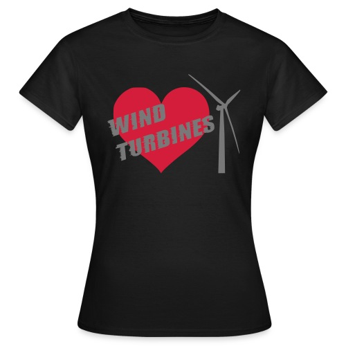 wind turbine grey - Women's T-Shirt