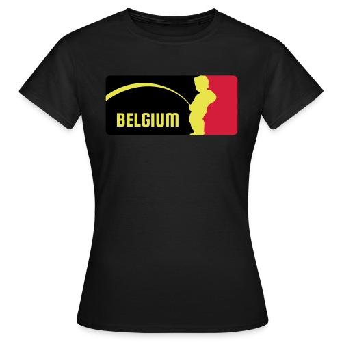 Mannekke Pis, Belgium Rode duivels - Belgium - Bel - T-shirt Femme