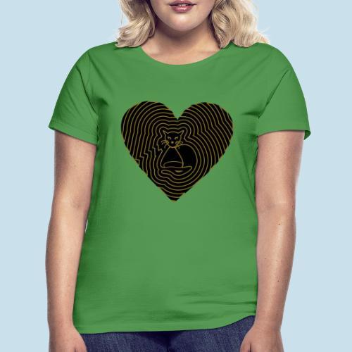 Katzen Herz Spirale 2 Färbig - Frauen T-Shirt