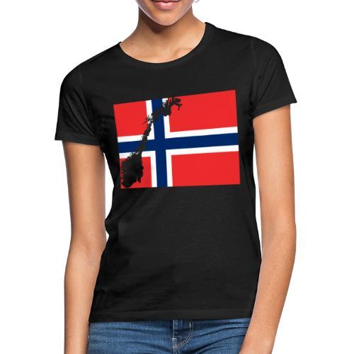 Norges Flagg - Frauen T-Shirt