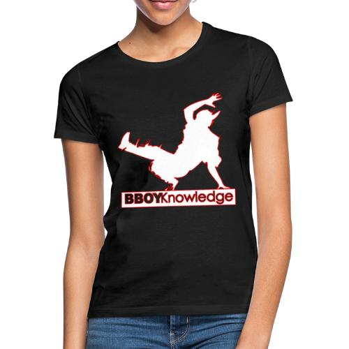 Bboy Knowledge Logo Variation Red&White - T-shirt Femme