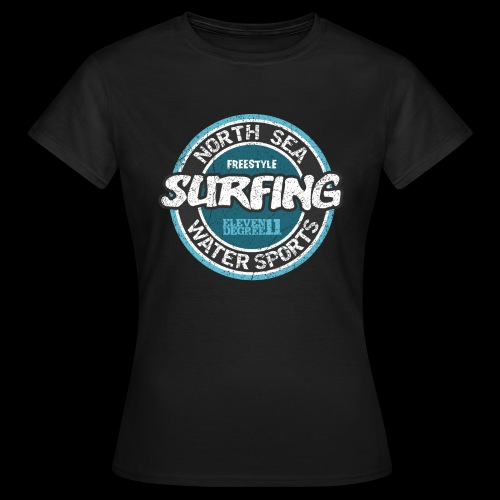 North Sea Surfing (oldstyle) - Dame-T-shirt