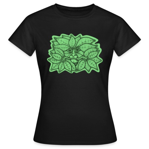 Green Man for Pagan Global Warming/Climate Change - Women's T-Shirt