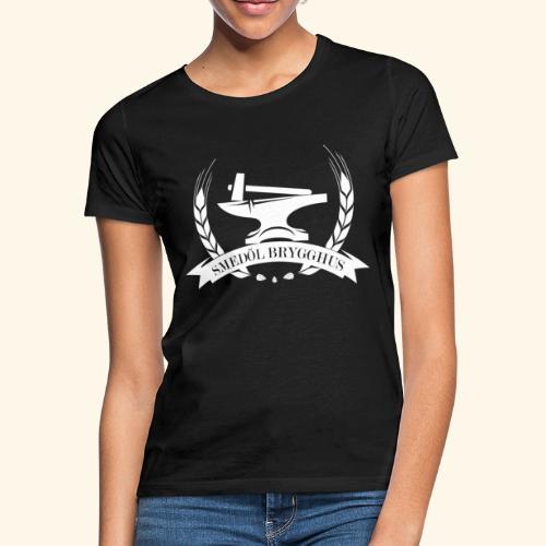 Smedöl Brygghus Logga Vit - T-shirt dam