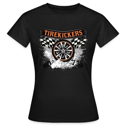 Tirekickers – Wheel ans Racing Flags - Frauen T-Shirt