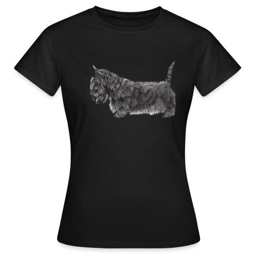 skotsk terrier ub - Dame-T-shirt