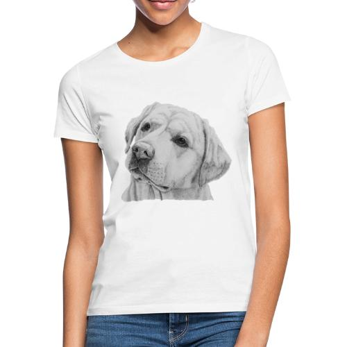 labrador retriever yellow - head - Dame-T-shirt