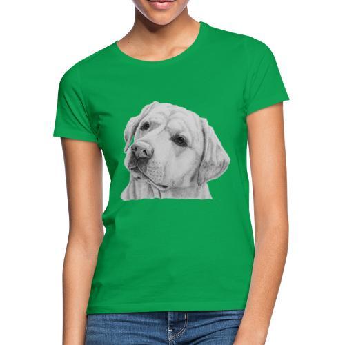 labrador retriever yellow - head - Dame-T-shirt