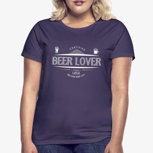 beerloverwhite png - T-shirt Femme