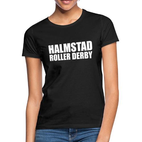 textlogga vit - T-shirt dam