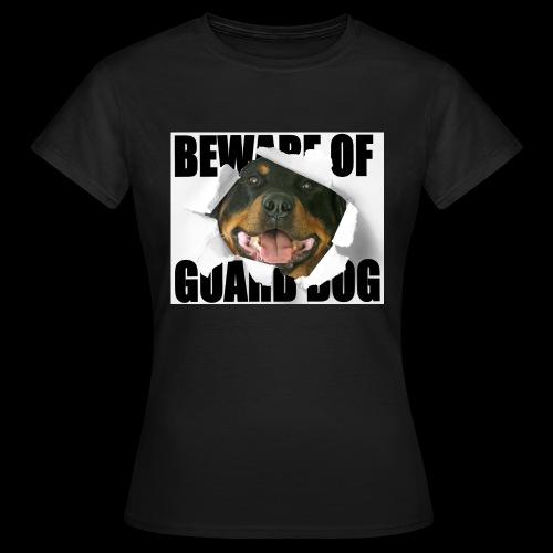 beware of guard dog - Women's T-Shirt