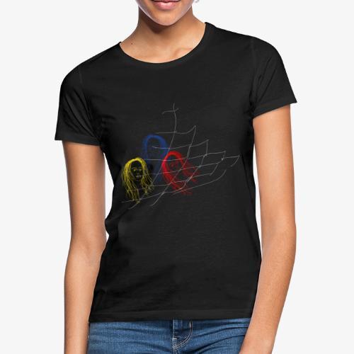stuck in net - Frauen T-Shirt