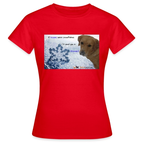 Golden Retriever tra i fiocchi di neve - Maglietta da donna