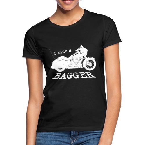 I ride a bagger - hvid - Dame-T-shirt