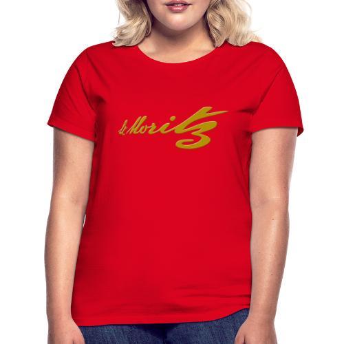 St. Moritz Schweiz Souvenir - Frauen T-Shirt