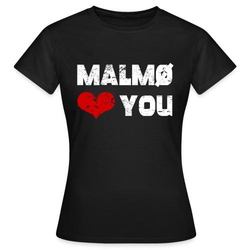 Malmö <3 dig - T-shirt dam