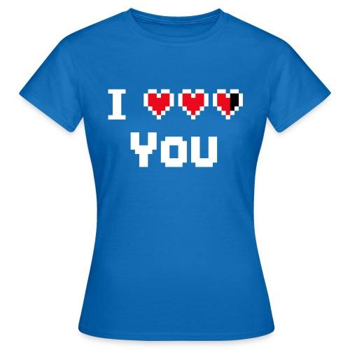 I pixelhearts you - Vrouwen T-shirt