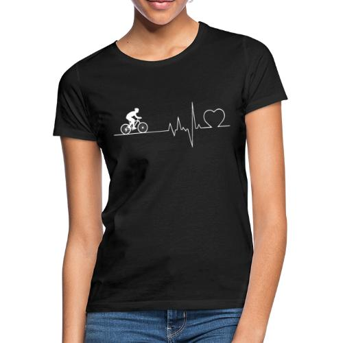 Herzschlag Heartbeat Fahrrad Rennrad Geschenk - Frauen T-Shirt