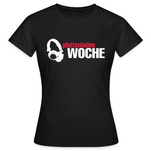 plattenwoche_weiss_rot - Frauen T-Shirt
