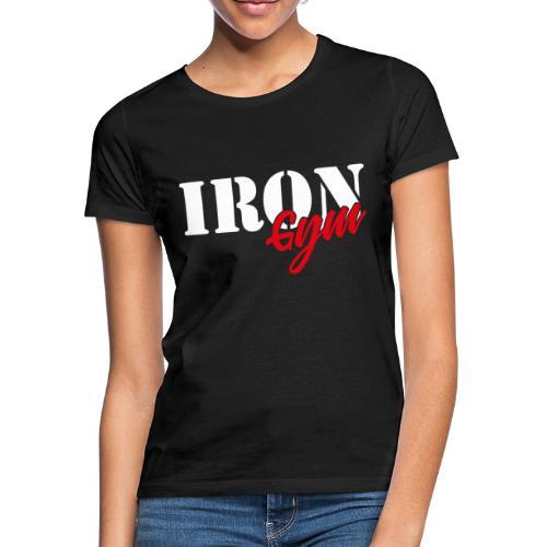 iron gym logo white - Camiseta mujer