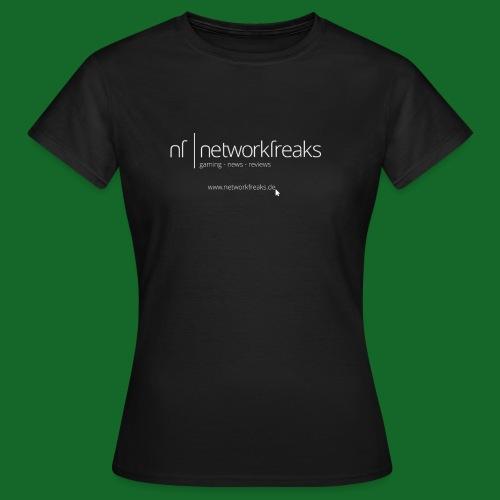 T-Shirt NetworkFreaks Weiße Aufschrift - Frauen T-Shirt