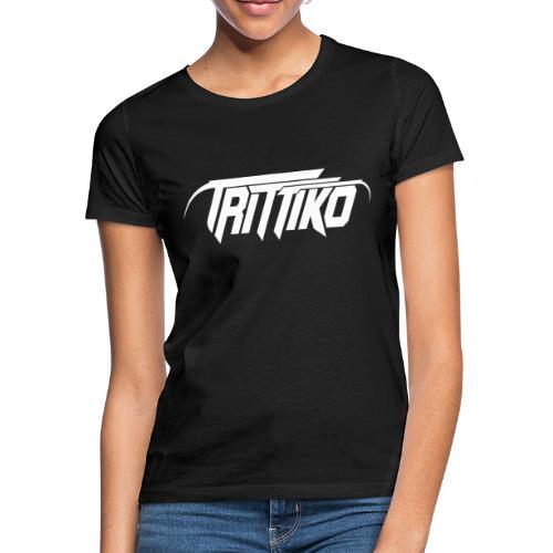 Trittiko Logo Weiss - Frauen T-Shirt
