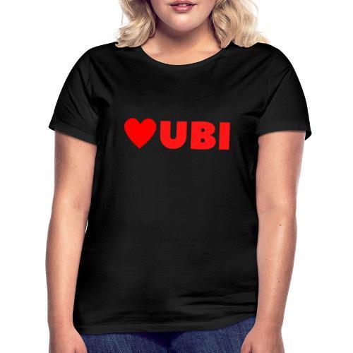 love ubi red trans - Vrouwen T-shirt