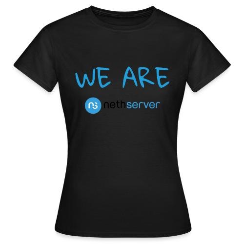 blue-black-rectangle - Women's T-Shirt