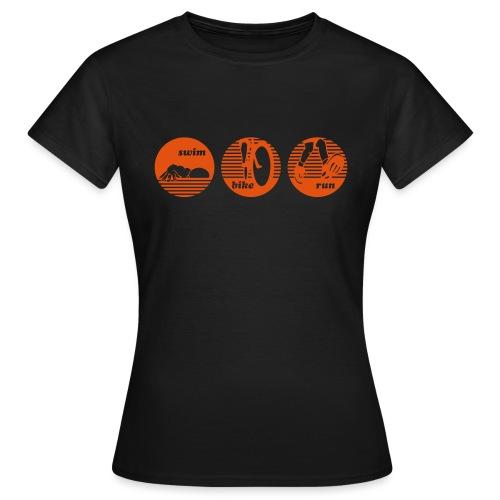 swim bike run Triathlon Sport - Frauen T-Shirt