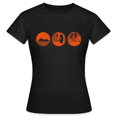 swim bike run ohne Text Traithlon - Frauen T-Shirt