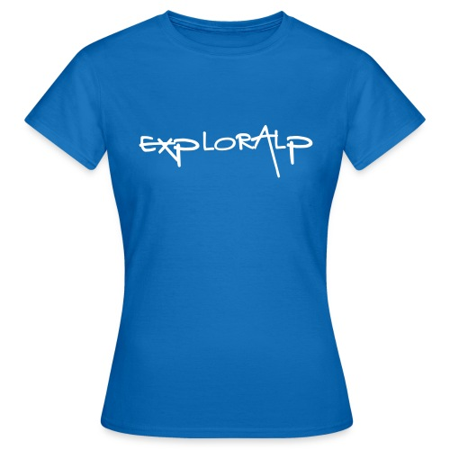 exploralp logo e testo - Women's T-Shirt
