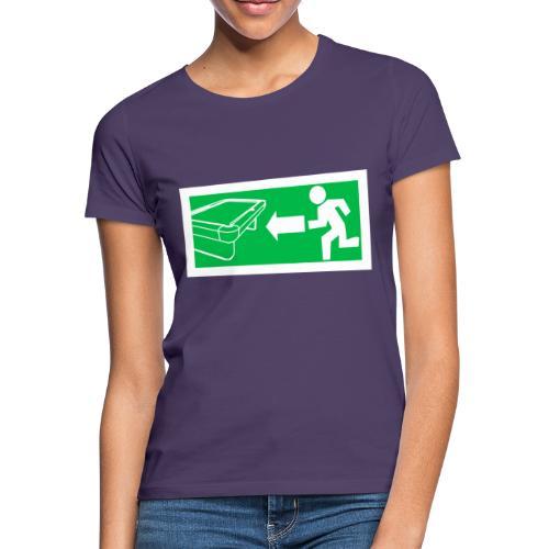 "Billard Shirt ""Notausgang Billard"" - Pool Billard - Frauen T-Shirt"