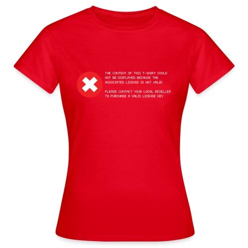 T-shirt Error - Maglietta da donna