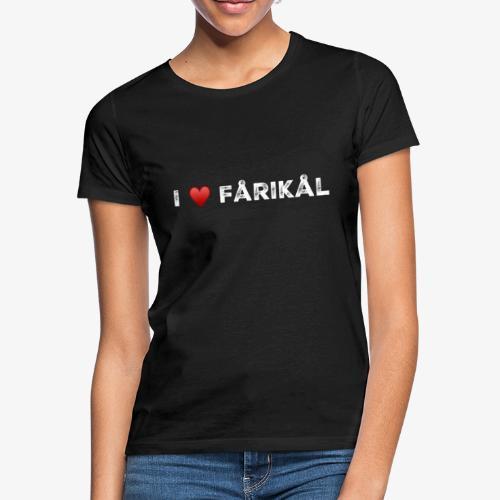 I love fårikål - T-skjorte for kvinner