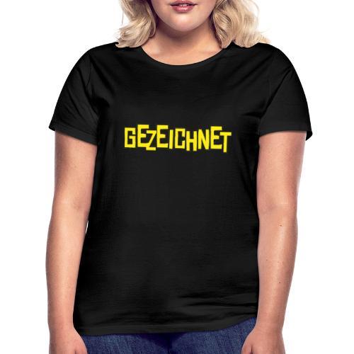 Gezeichnet Logo Gelb - Frauen T-Shirt