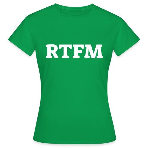 RTFM - Dame-T-shirt