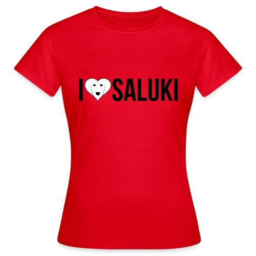I Love Saluki - Maglietta da donna