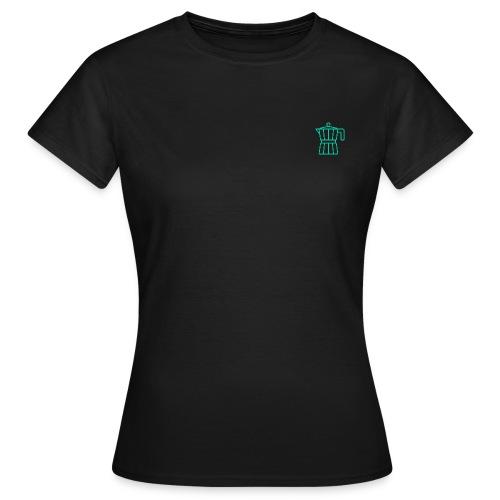mokacoffeeappelblauwzeegroen - T-shirt Femme