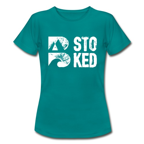 bstoked logo white - Women's T-Shirt