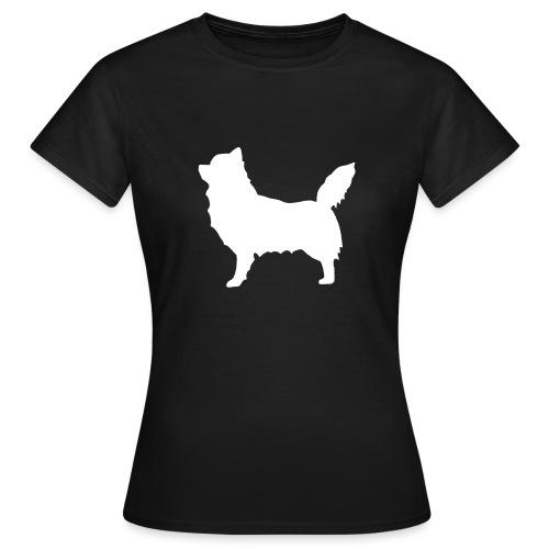 Chihuahua pitkakarva valkoinen - Naisten t-paita