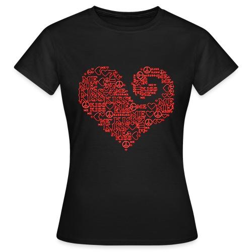 kiss me peace - heart - Frauen T-Shirt