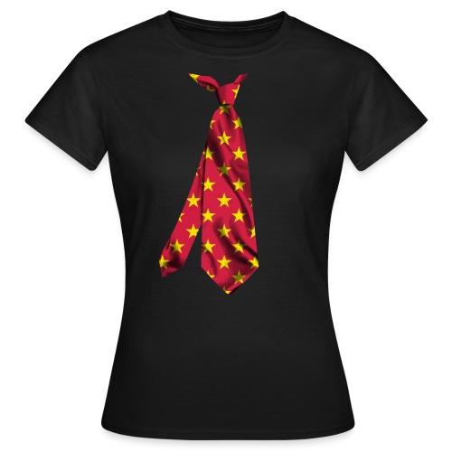 printed necktie yellow amish barn star - Maglietta da donna