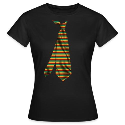 printed funny necktie t shirt design gift idea - Maglietta da donna