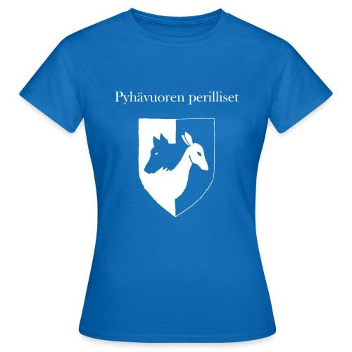 Pyhävuoren perilliset häälogo+teksti - Naisten t-paita
