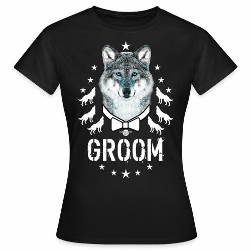 161 Wolf JGA GROOM Wolfpack Sterne - Frauen T-Shirt