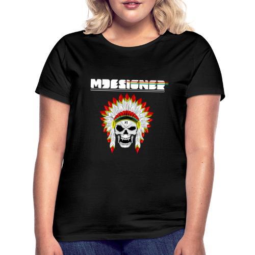 calavera o craneo con penacho de plumas vampiresco - Camiseta mujer