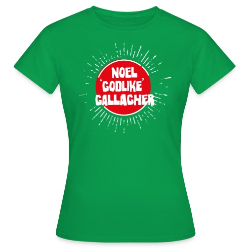 Noel Gallagher 'Godlike' - White on Red - Maglietta da donna