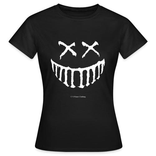Creepy Smile White - Maglietta da donna