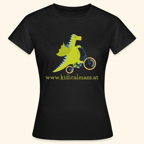 Musikdrache für dunklen Hintergrund - Frauen T-Shirt